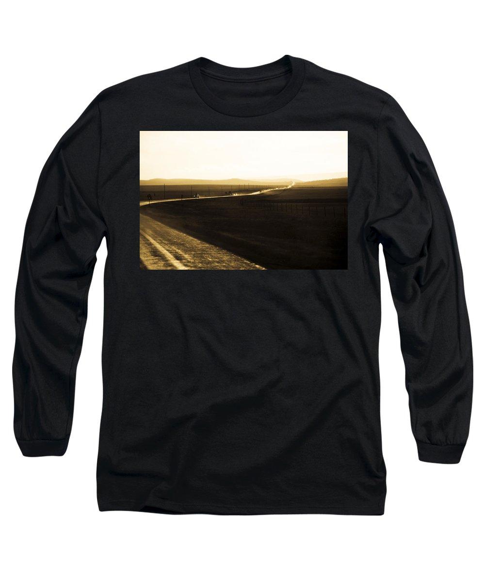 Rain Long Sleeve T-Shirt featuring the photograph Western Rain by Marilyn Hunt