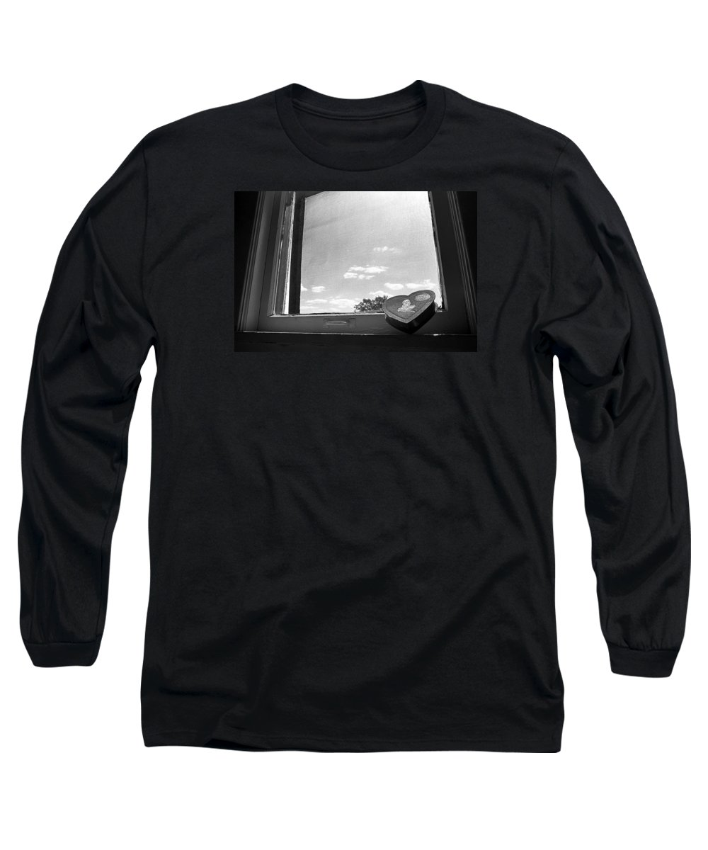 Window Long Sleeve T-Shirt featuring the photograph What Remains by Ted M Tubbs