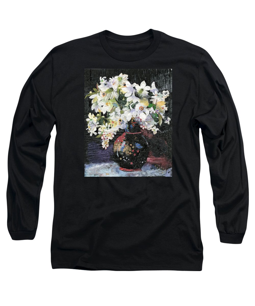 Limited Edition Prints Long Sleeve T-Shirt featuring the painting White Celebration by Nira Schwartz