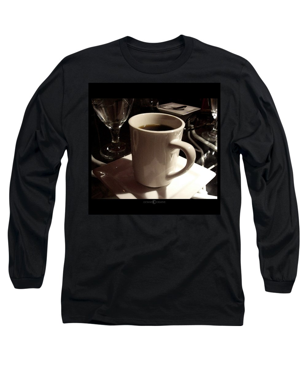 White Long Sleeve T-Shirt featuring the photograph White Cup by Tim Nyberg
