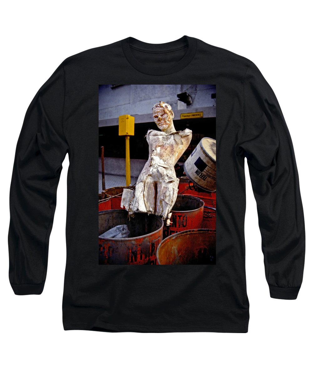 Trash Long Sleeve T-Shirt featuring the photograph White Trash by Skip Hunt