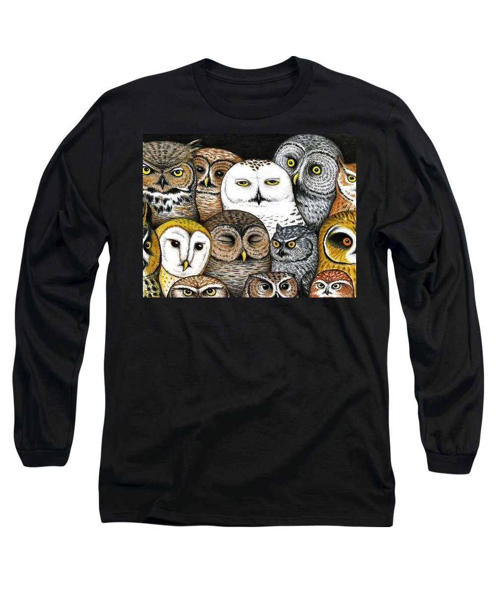 Art Long Sleeve T-Shirt featuring the painting Who's Hoo by Don McMahon