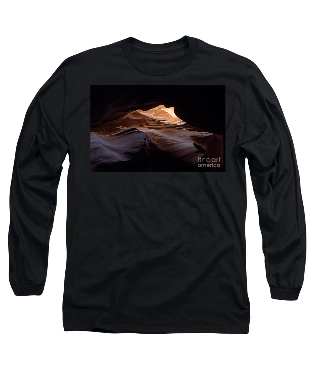Antelope Canyon Long Sleeve T-Shirt featuring the photograph Wind And Water by Kathy McClure