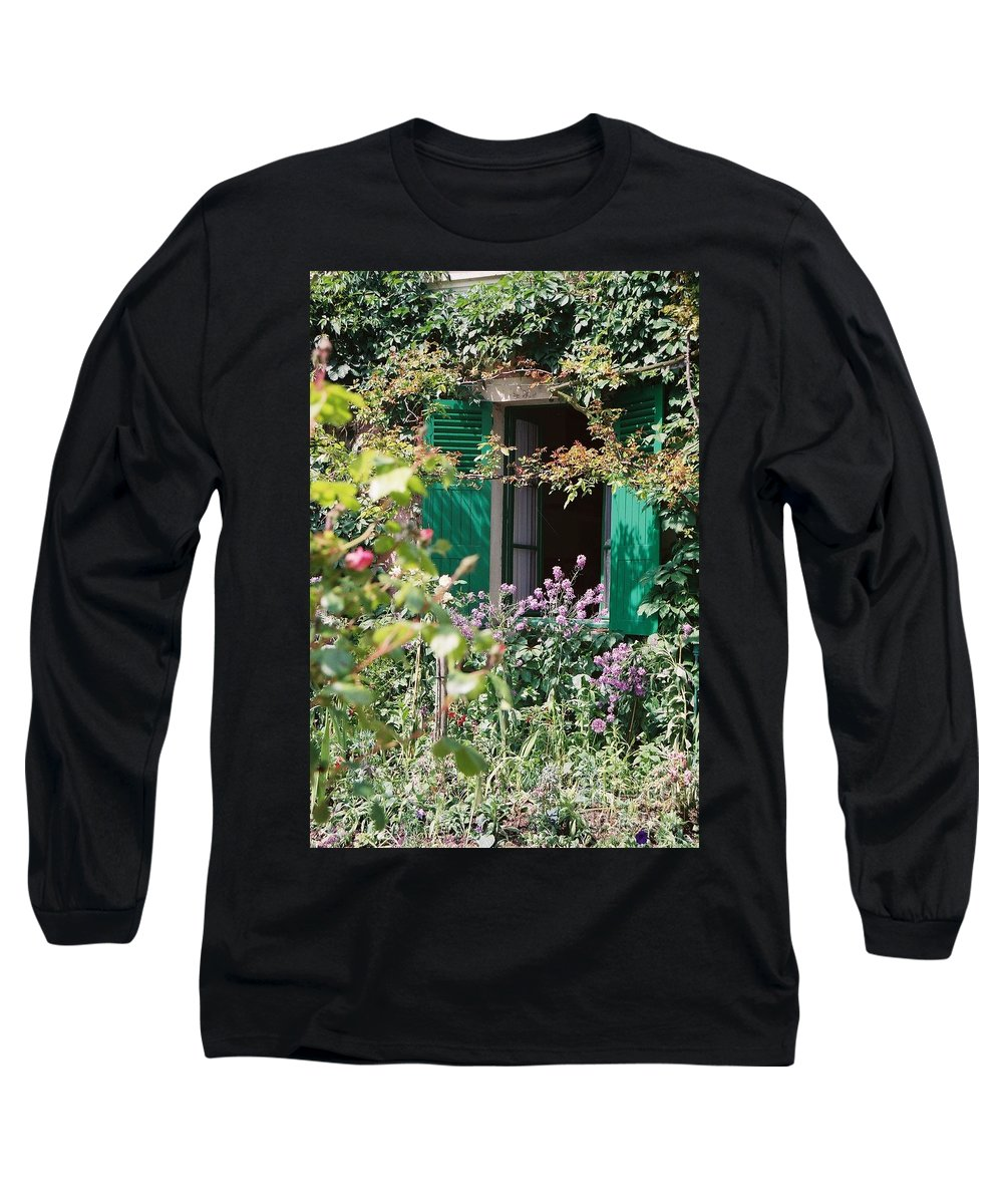 Charming Long Sleeve T-Shirt featuring the photograph Window To Monet by Nadine Rippelmeyer