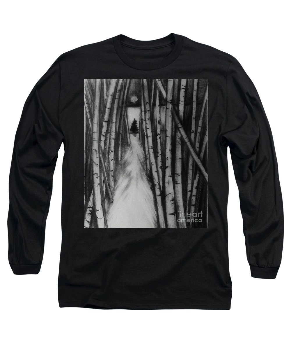 Winter Clearing In The Birches Long Sleeve T Shirt For