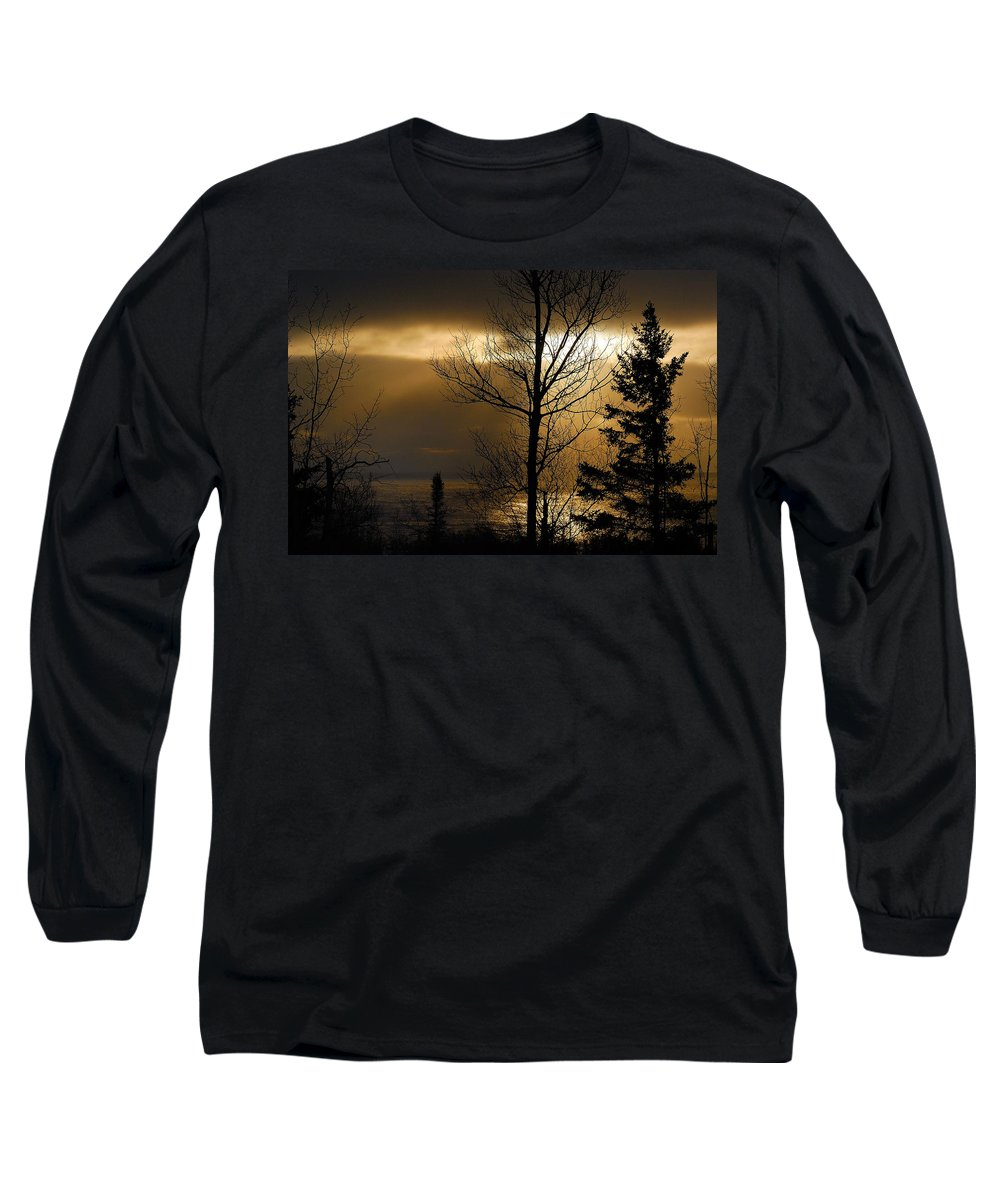 Nature Long Sleeve T-Shirt featuring the photograph Winter Sunrise 1 by Sebastian Musial