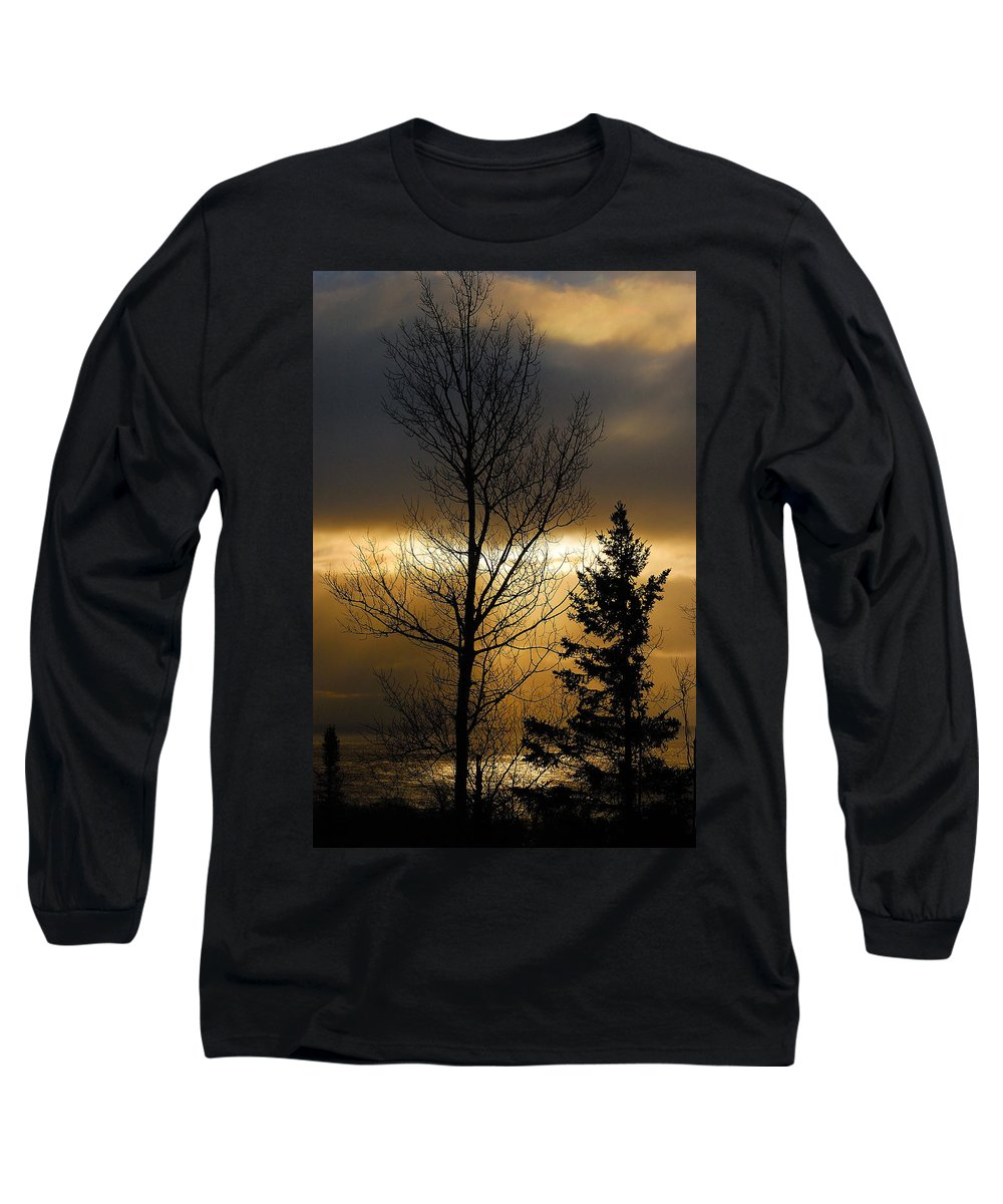 Nature Long Sleeve T-Shirt featuring the photograph Winter Sunrise 2 by Sebastian Musial