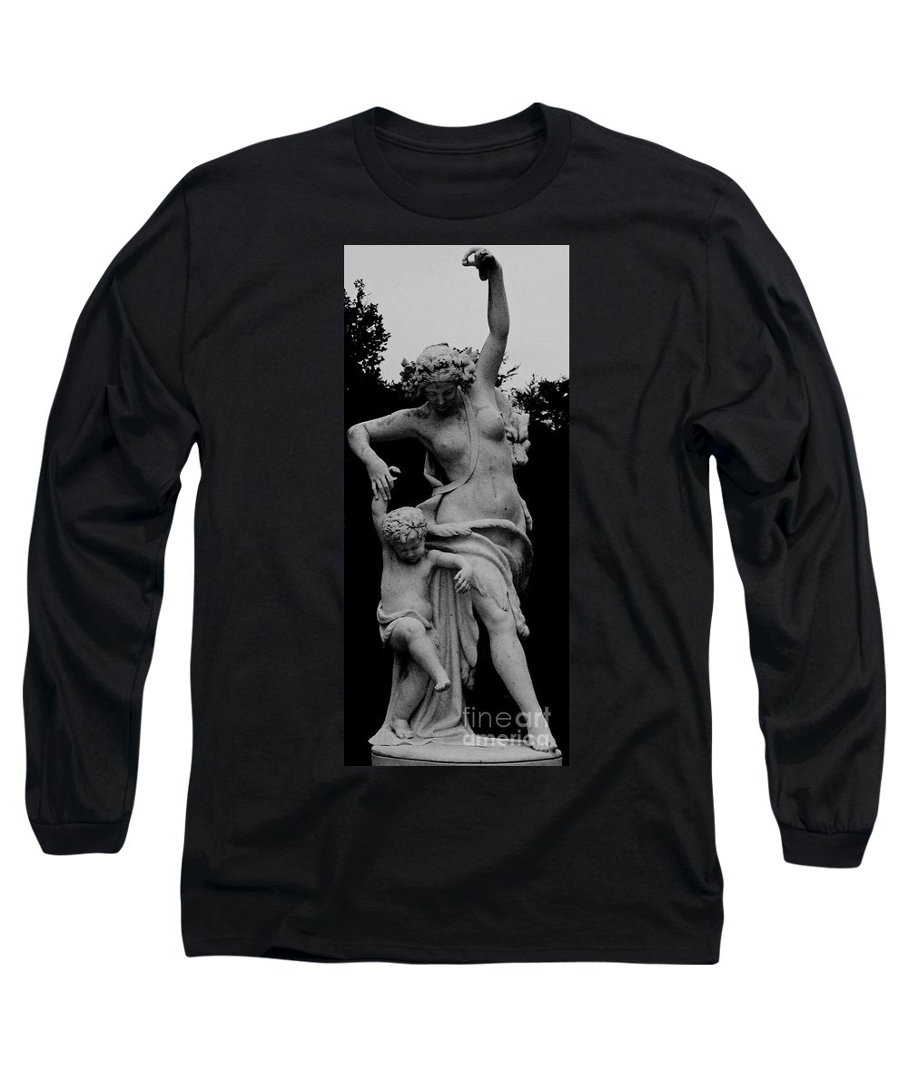 Figurative Long Sleeve T-Shirt featuring the painting Woman Statue by Eric Schiabor