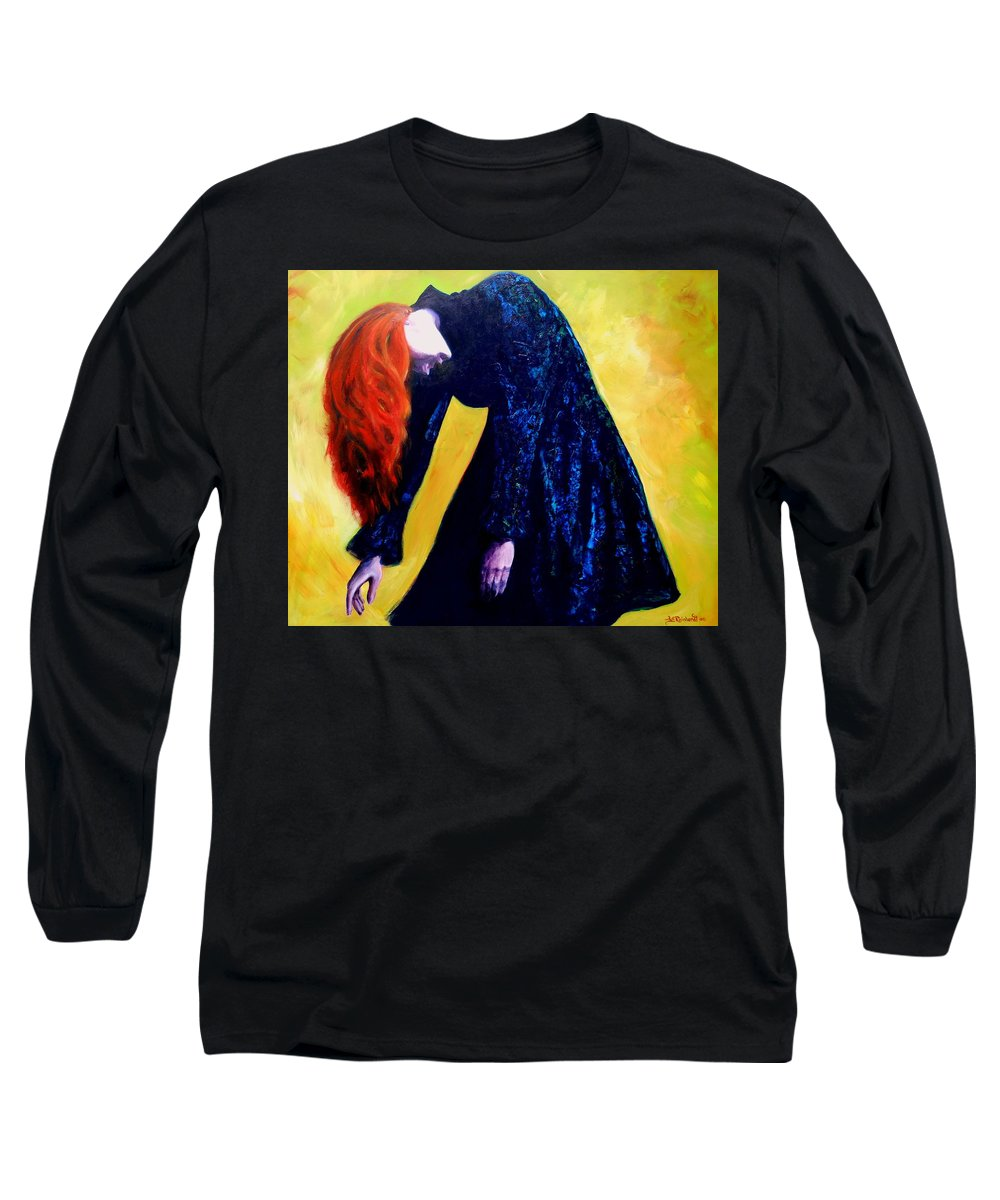 Acrylic Long Sleeve T-Shirt featuring the painting Wound Down by Jason Reinhardt