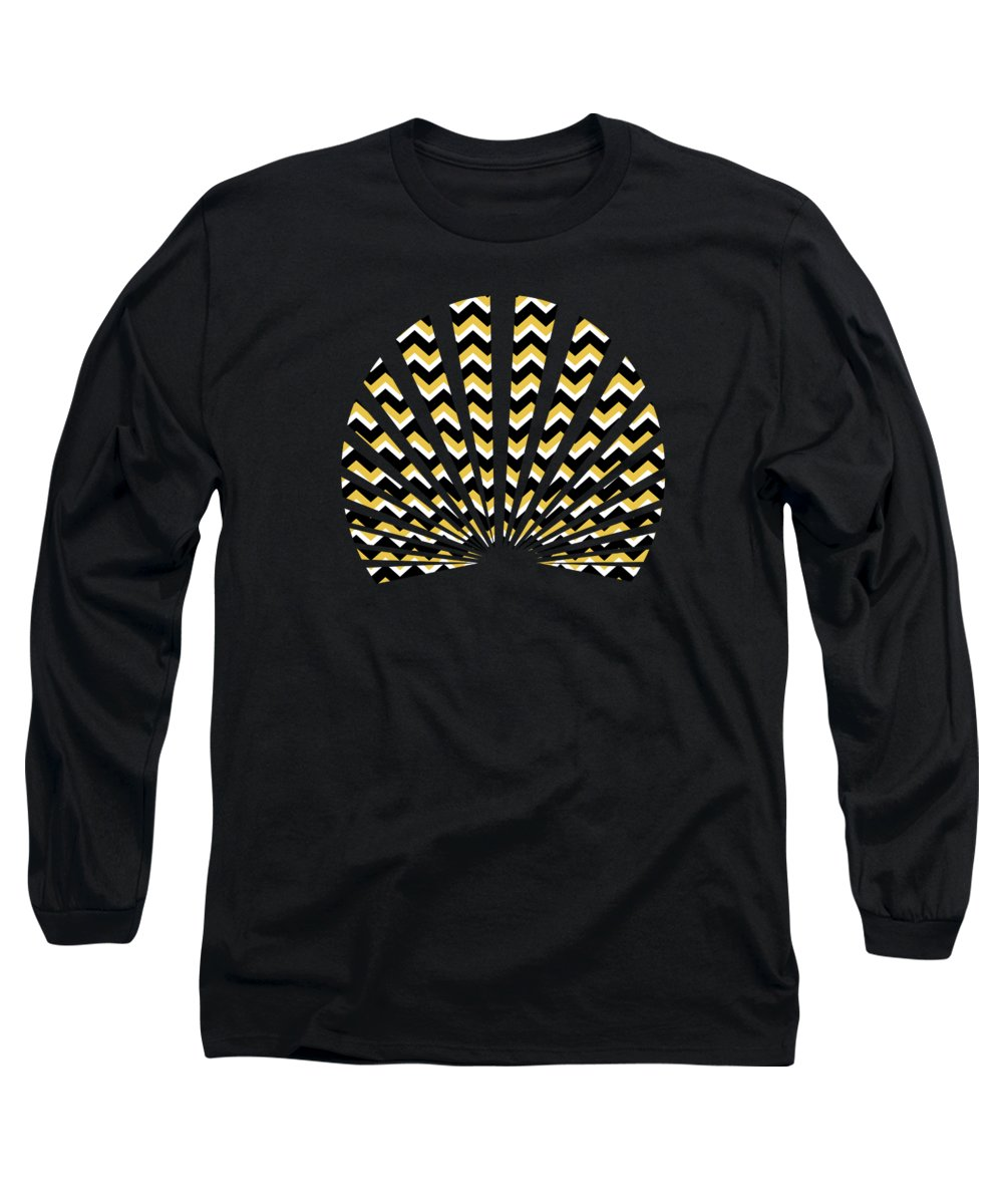 Chevron Mixed Media Long Sleeve T-Shirts
