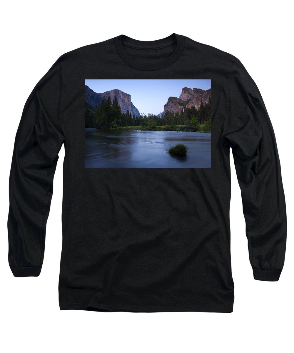 Yosemite Long Sleeve T-Shirt featuring the photograph Yosemite Twilight by Mike Dawson