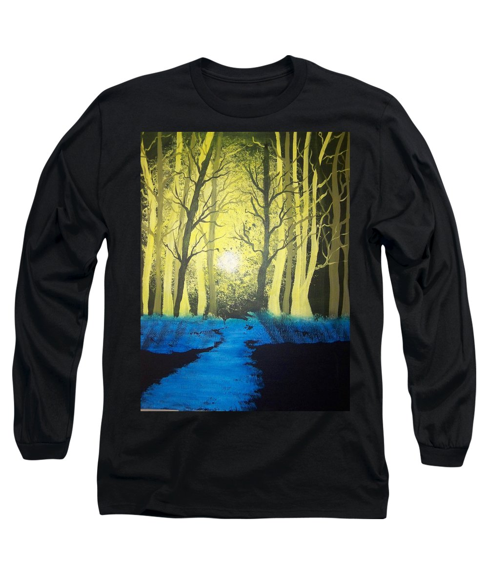 Forest Long Sleeve T-Shirt featuring the painting You Cant See The Forest For The Trees by Laurie Kidd