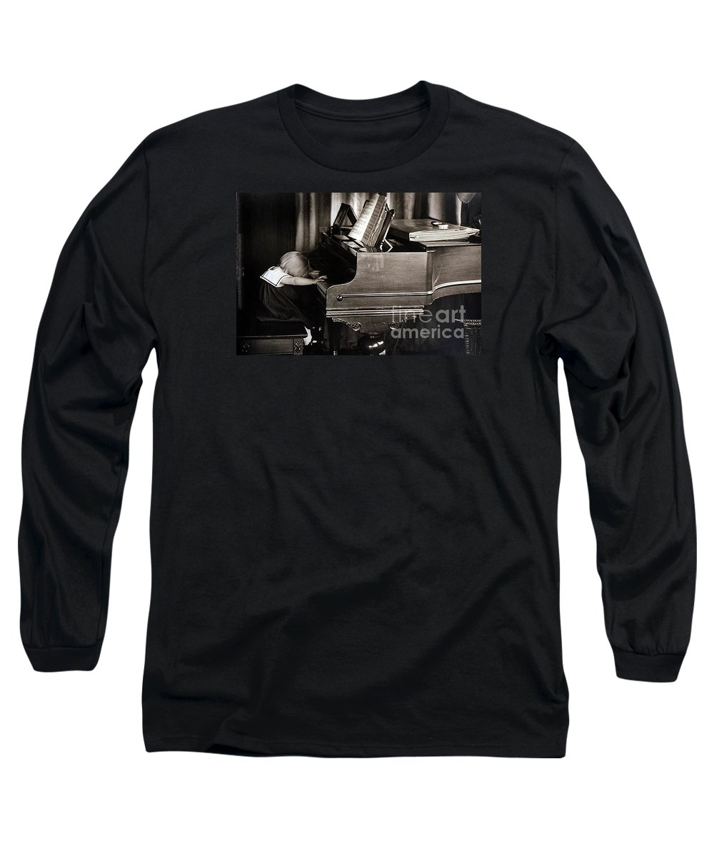Piano Long Sleeve T-Shirt featuring the photograph Young Beethoven by Michael Ziegler