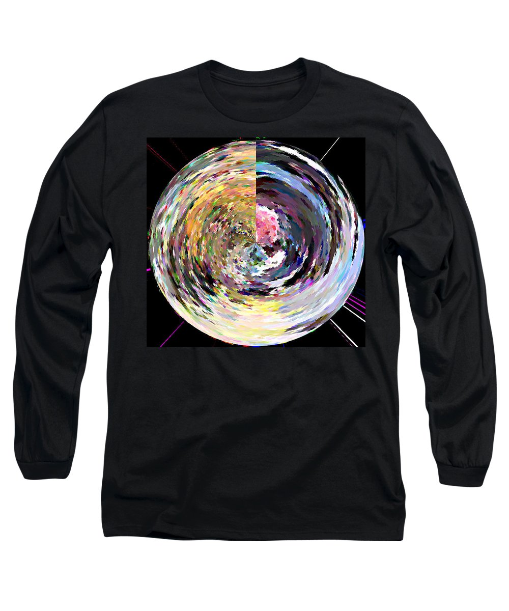 Digital Long Sleeve T-Shirt featuring the painting Zing by Anil Nene
