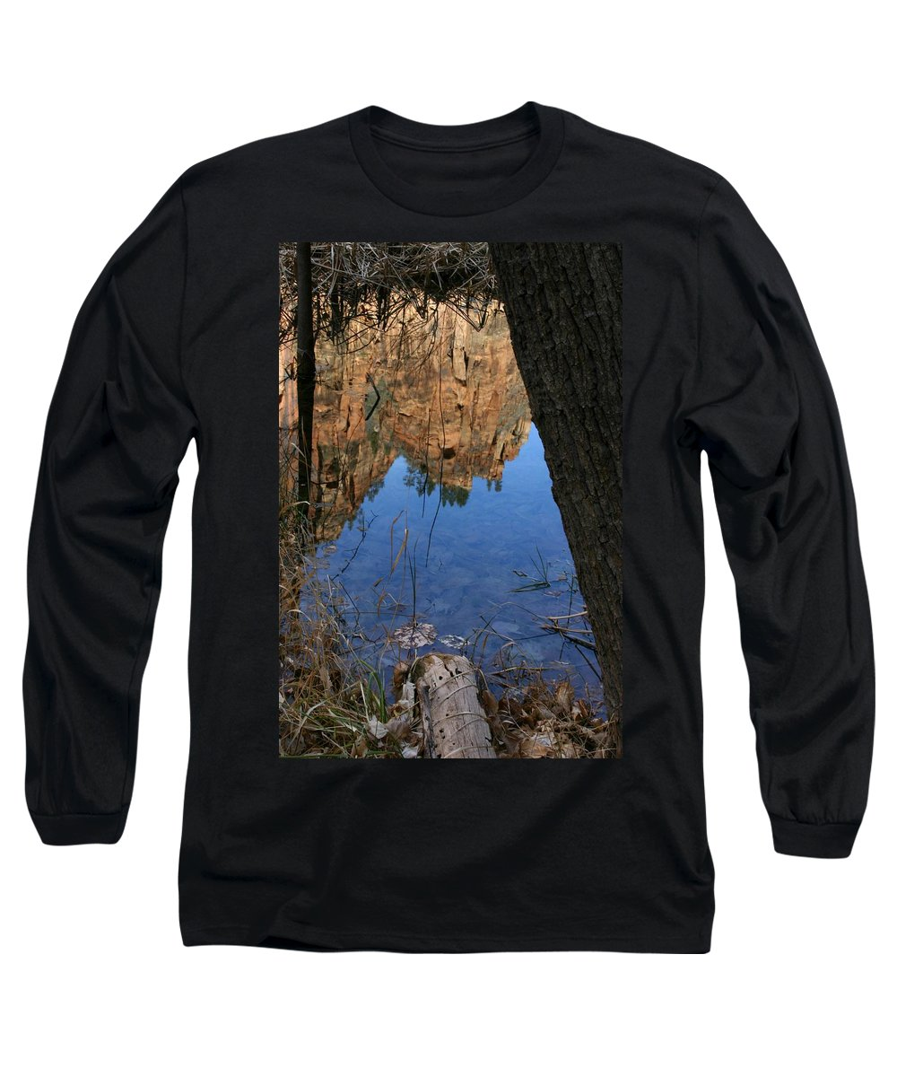 Zion Long Sleeve T-Shirt featuring the photograph Zion Reflections by Nelson Strong