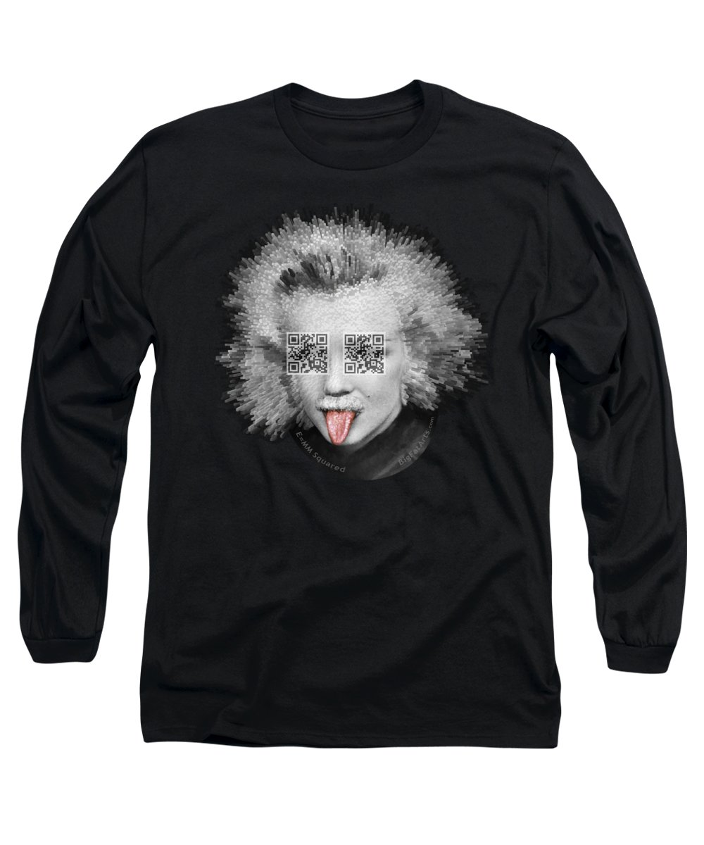 Pop Surrealism Long Sleeve T-Shirt featuring the digital art E equals MM Squared by Big Fat Arts