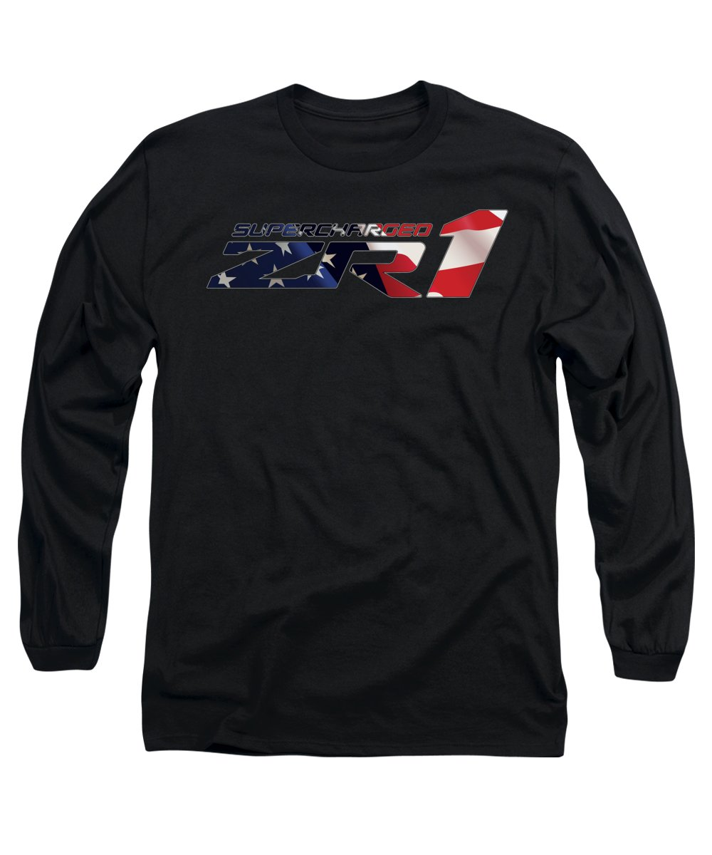 Corvette Long Sleeve T-Shirt featuring the photograph All American Zr1 by Ricky Barnard