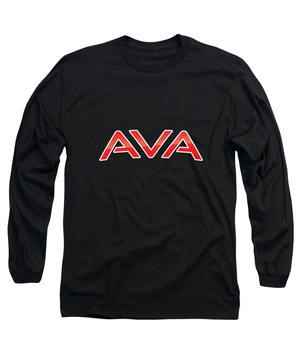 Ava Long Sleeve T-Shirt featuring the digital art Ava by TintoDesigns