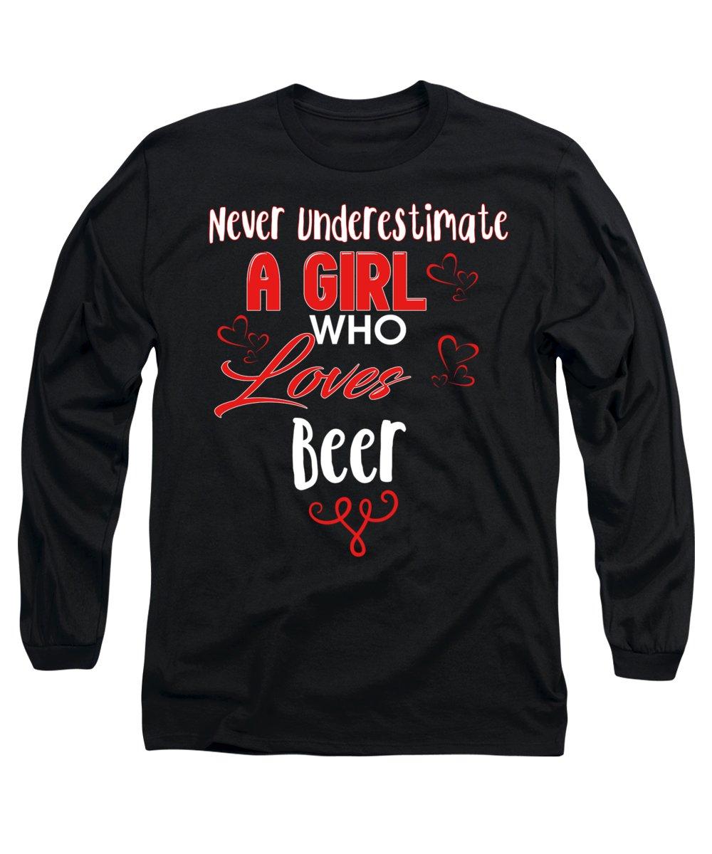 Beer Can Digital Art Long Sleeve T-Shirts