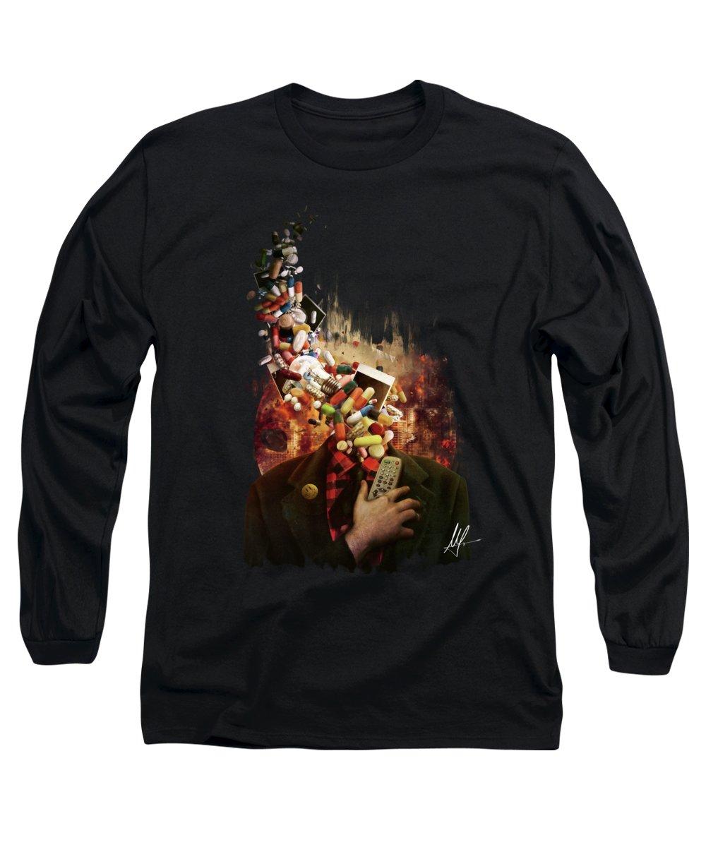 Capitalism Digital Art Long Sleeve T-Shirts