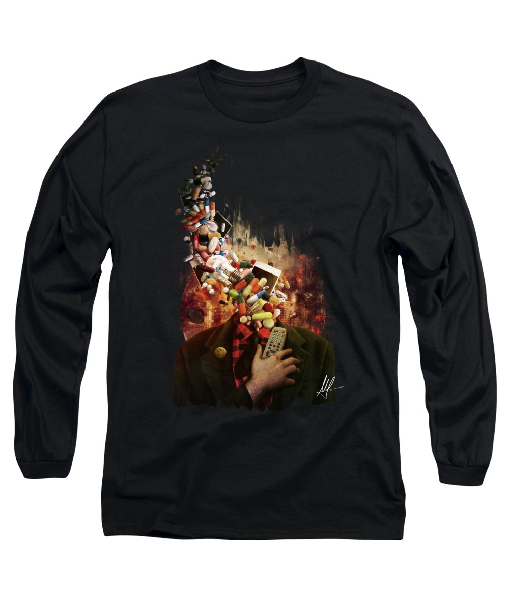 Media Digital Art Long Sleeve T-Shirts