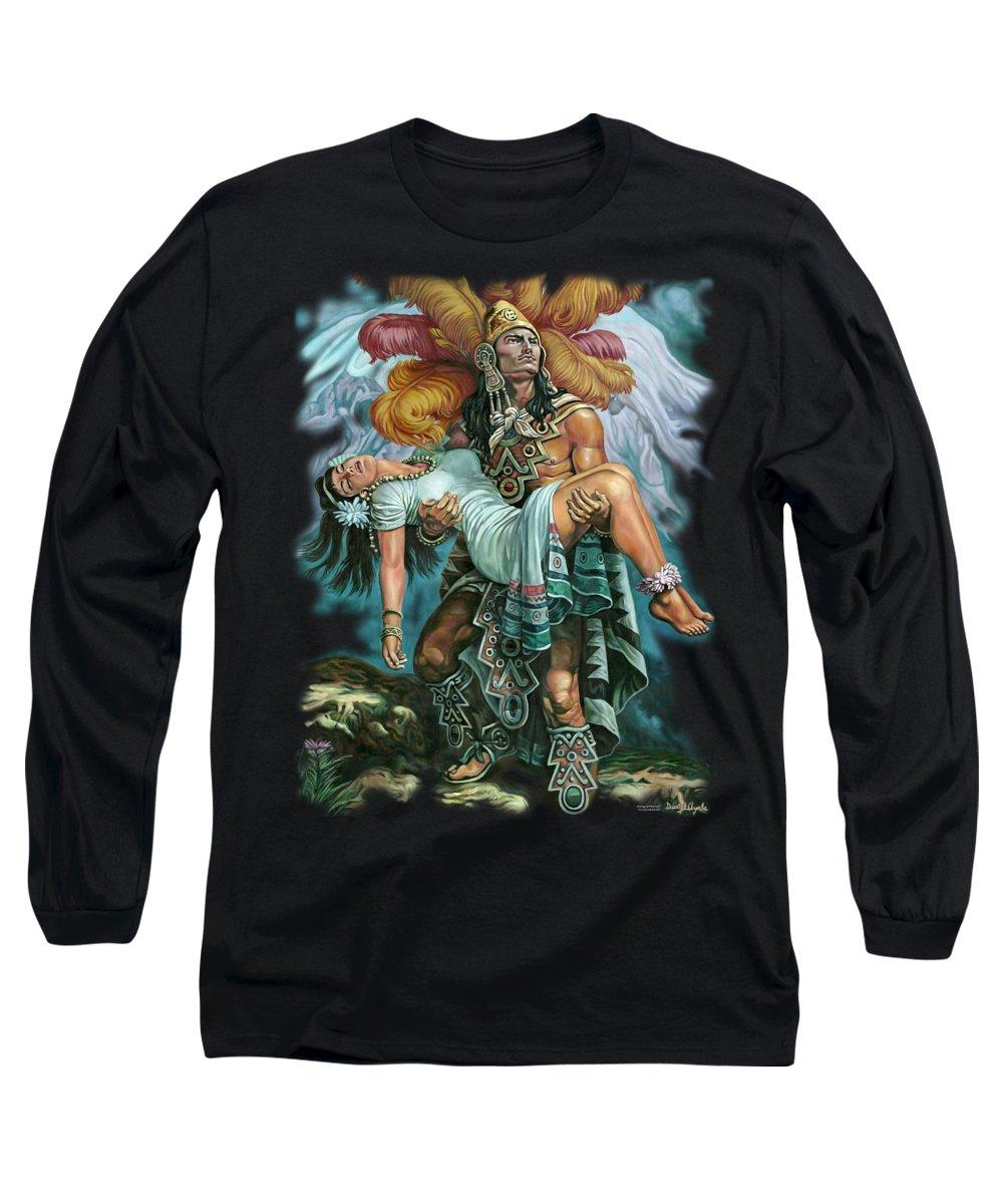 Aztec Paintings Long Sleeve T-Shirts