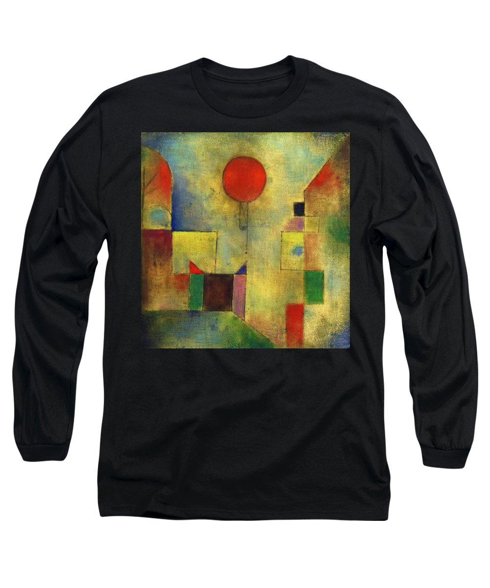 Paul Klee Long Sleeve T-Shirt featuring the painting Red Balloon - Roter Ballon, 1922 by Paul Klee