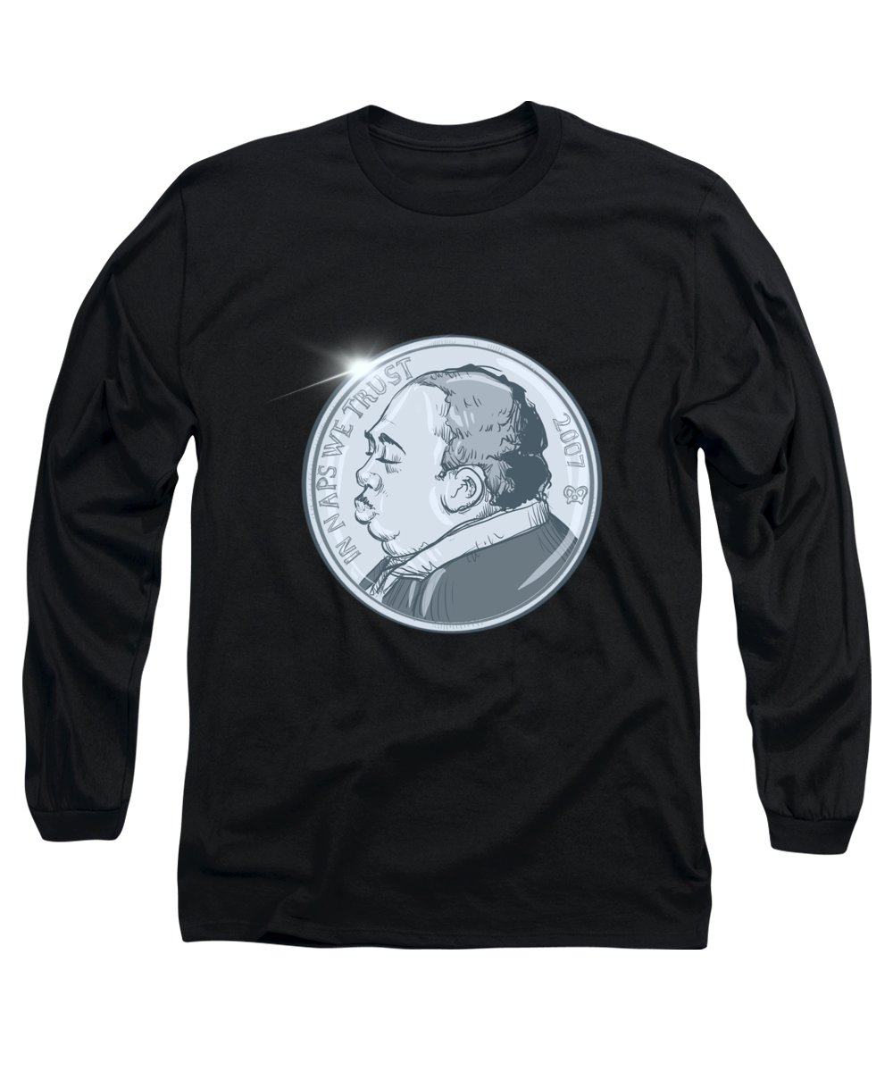 Stanley Nickel Long Sleeve T-Shirt featuring the drawing Stanley Nickel by Ludwig Van Bacon