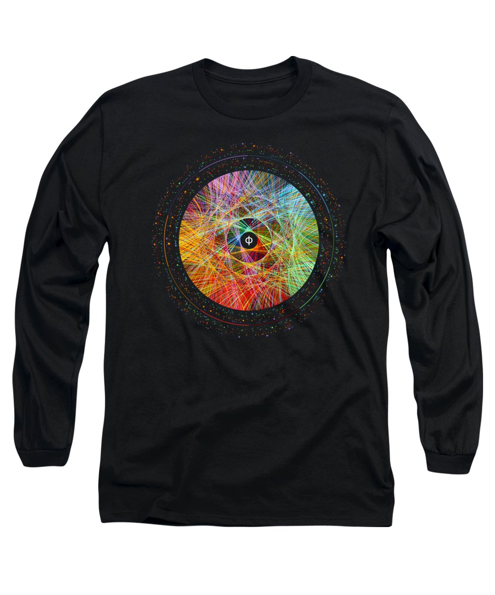 Phi Long Sleeve T-Shirt featuring the digital art The Art Of The Golden Ratio Phi by Martin Krzywinski