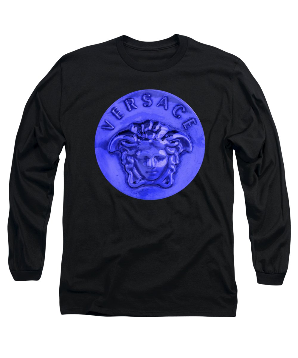 Versace Long Sleeve T-Shirt featuring the painting Versace Jewelry-2 by Nikita