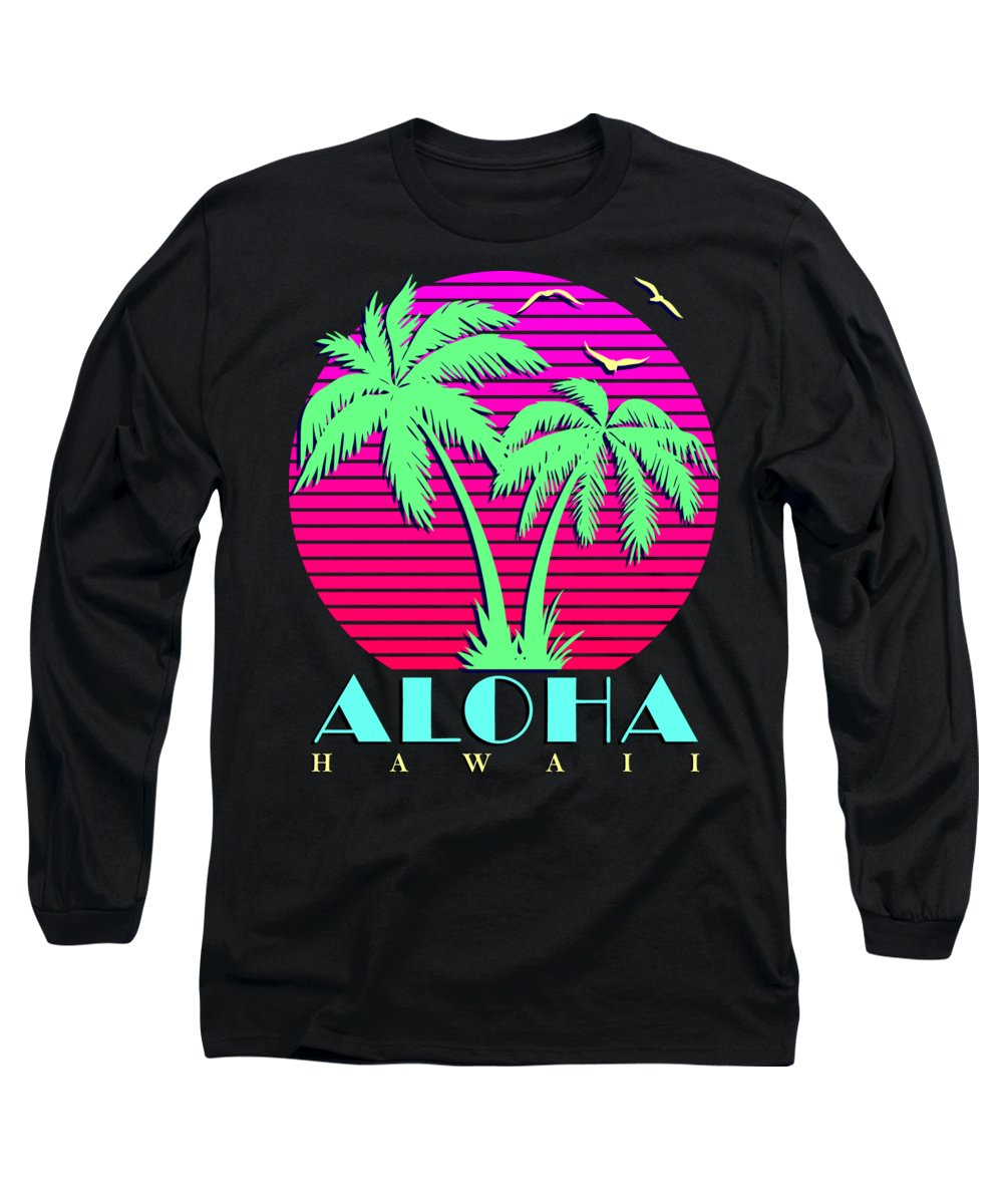 Classic Long Sleeve T-Shirt featuring the digital art Aloha Hawaii by Filip Schpindel