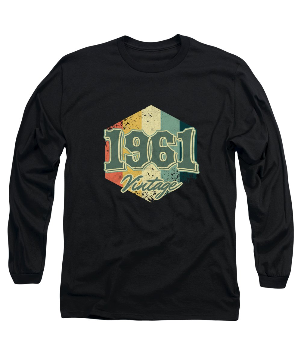 59 Years Old Long Sleeve T-Shirt featuring the digital art 59 Th Birthday Celebration Gift 1961 Vintage Retro Party Birth Anniversary by Thomas Larch