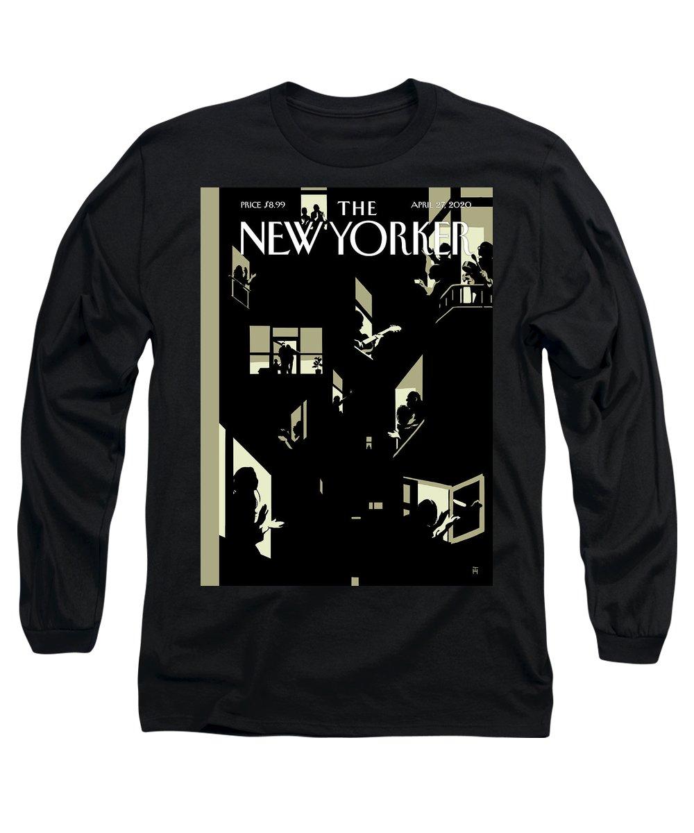 City Long Sleeve T-Shirt featuring the digital art A Chorus Of Thanks by Tomer Hanuka