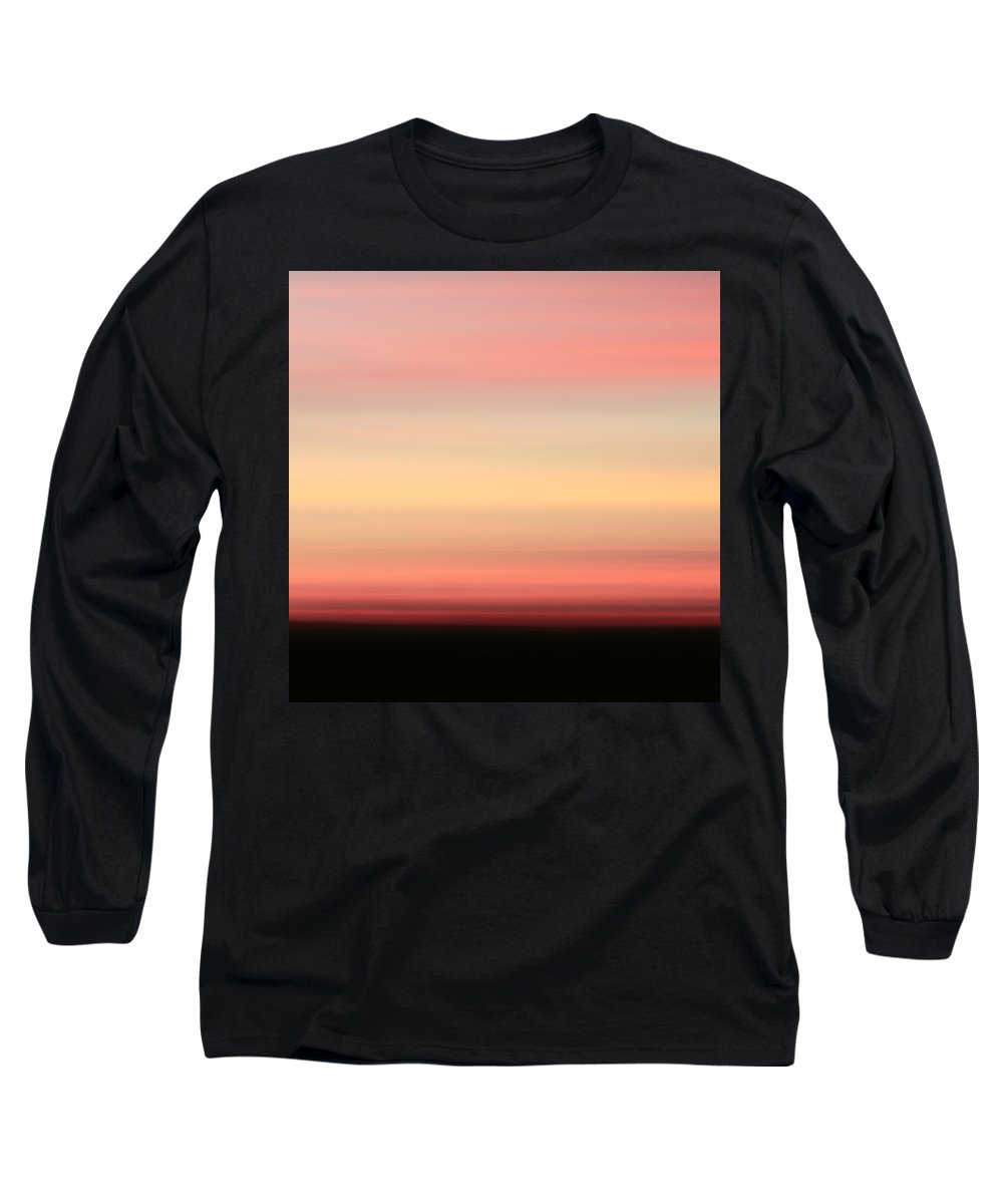 Abstract Long Sleeve T-Shirt featuring the photograph Blush by Laura Fasulo