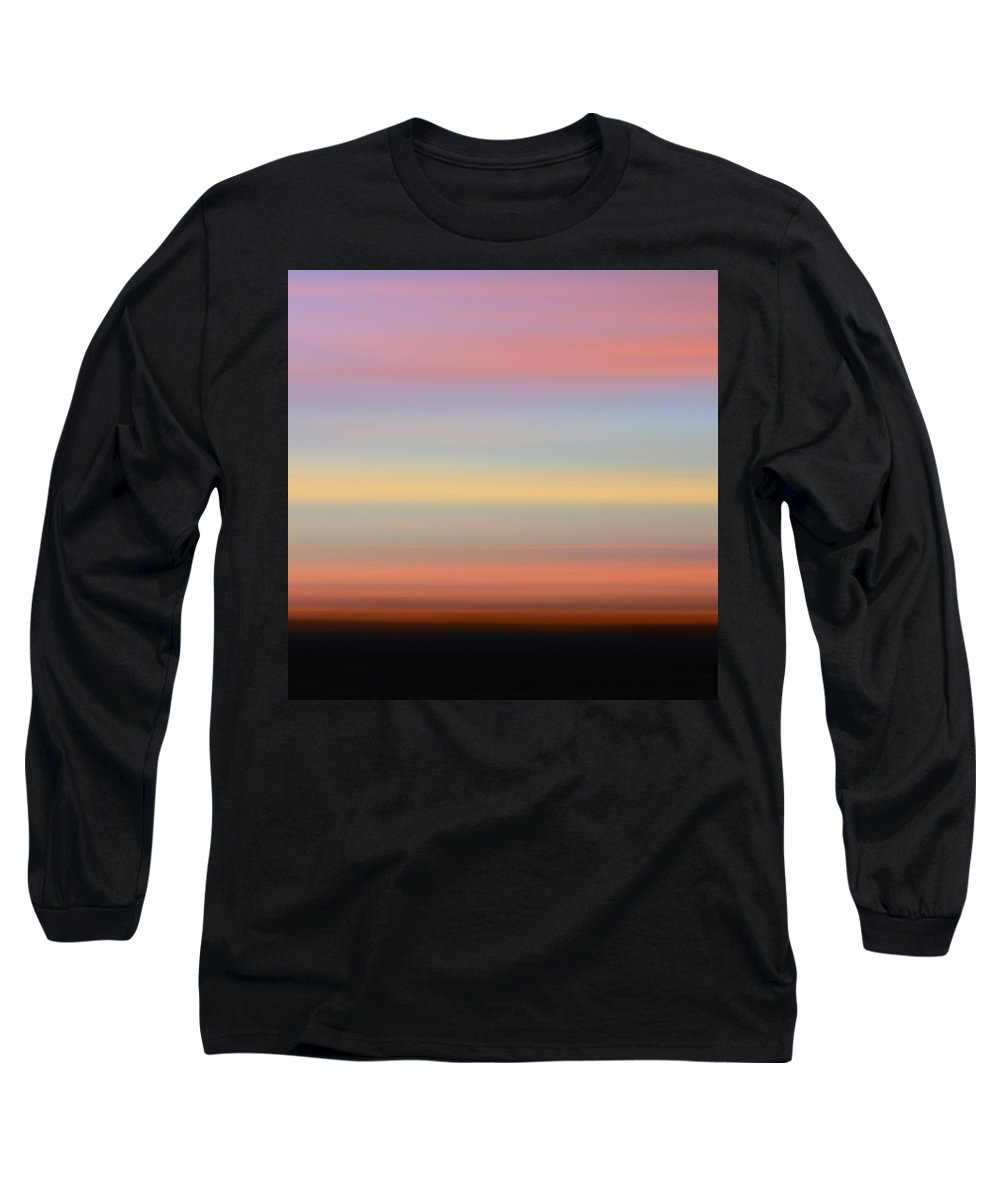 Abstract Long Sleeve T-Shirt featuring the photograph First Kiss by Laura Fasulo