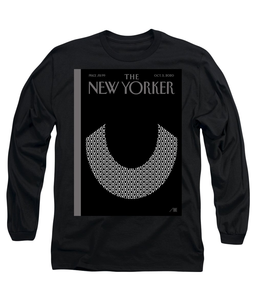 Rbg Long Sleeve T-Shirt featuring the digital art Icons by Bob Staake
