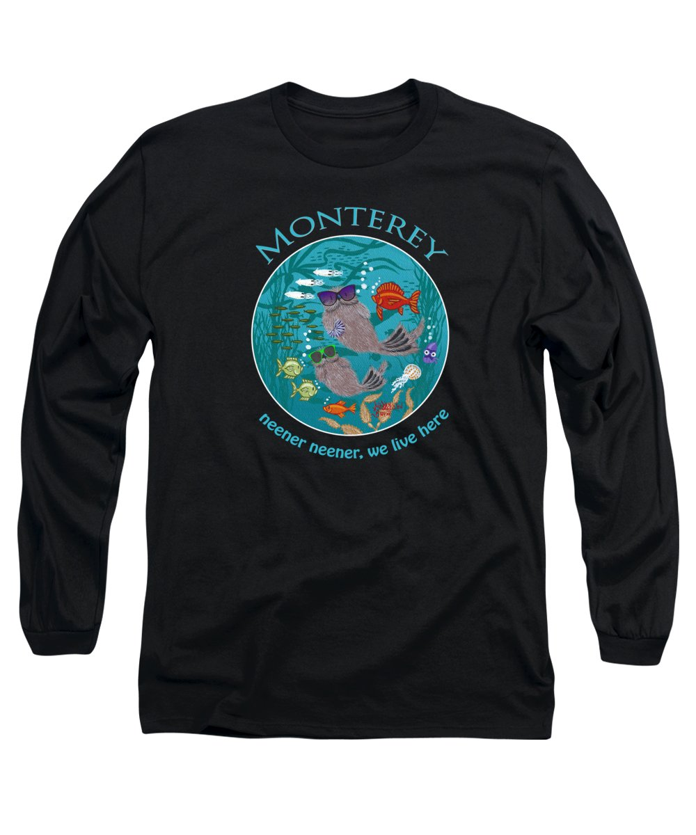 Long Sleeve T-Shirt featuring the digital art Little Round Neener by Merry Kohn Buvia