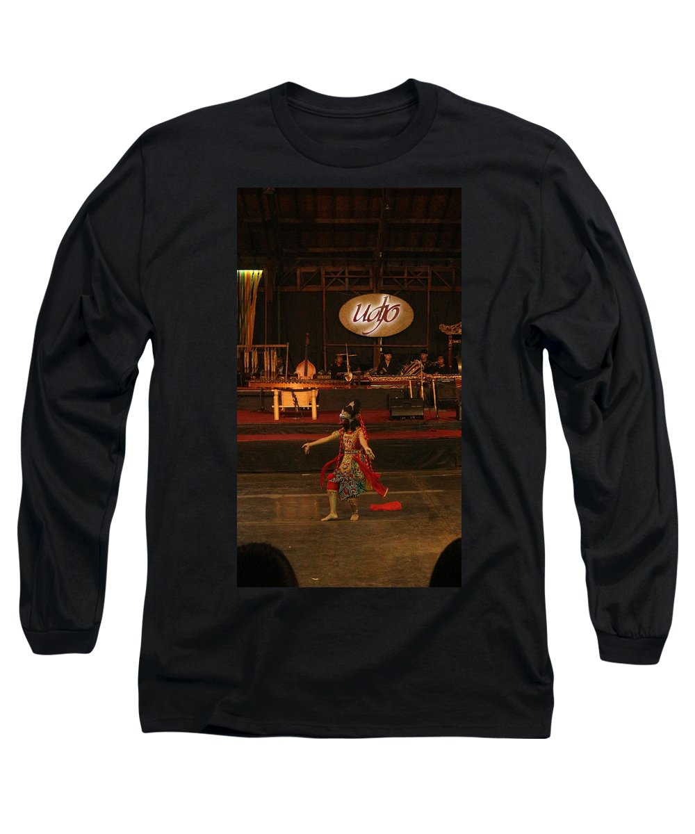 Dance Long Sleeve T-Shirt featuring the photograph Mask Dance by Lingga Tiara Setiadi