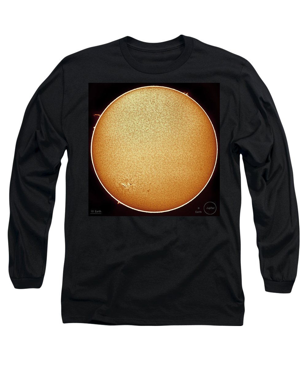 Sun Long Sleeve T-Shirt featuring the photograph The Fiery Sun by Prabhu Astrophotography