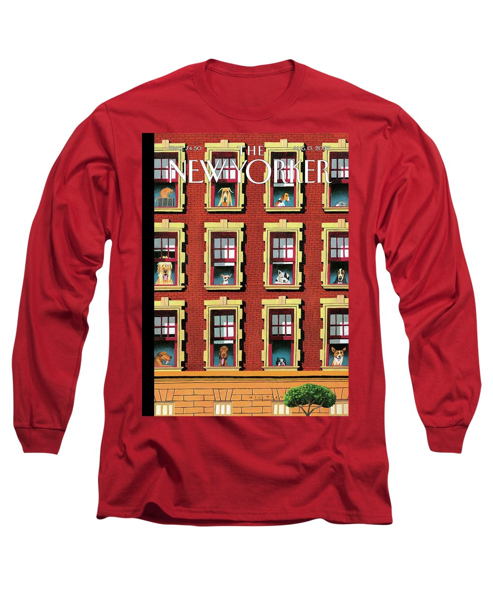 Hot Dogs Long Sleeve T-Shirt featuring the painting Hot Dogs by Mark Ulriksen