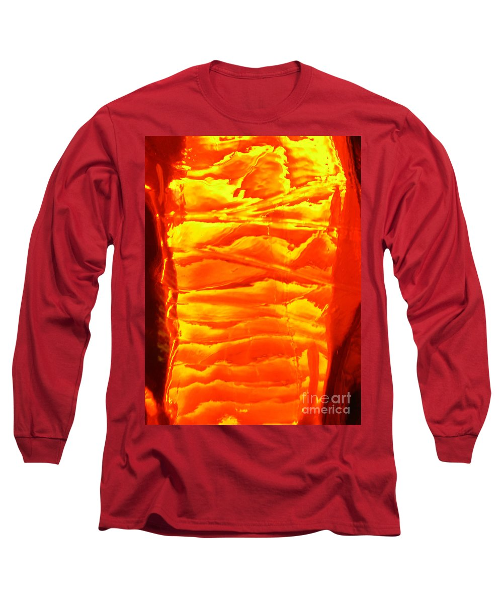 Orange Long Sleeve T-Shirt featuring the photograph Abstract Orange by Amanda Barcon