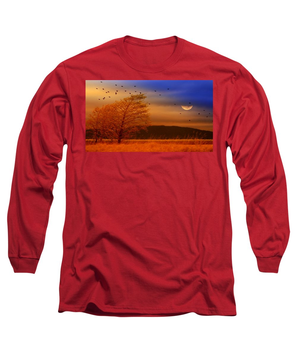 Landscape Long Sleeve T-Shirt featuring the photograph Against The Wind by Holly Kempe