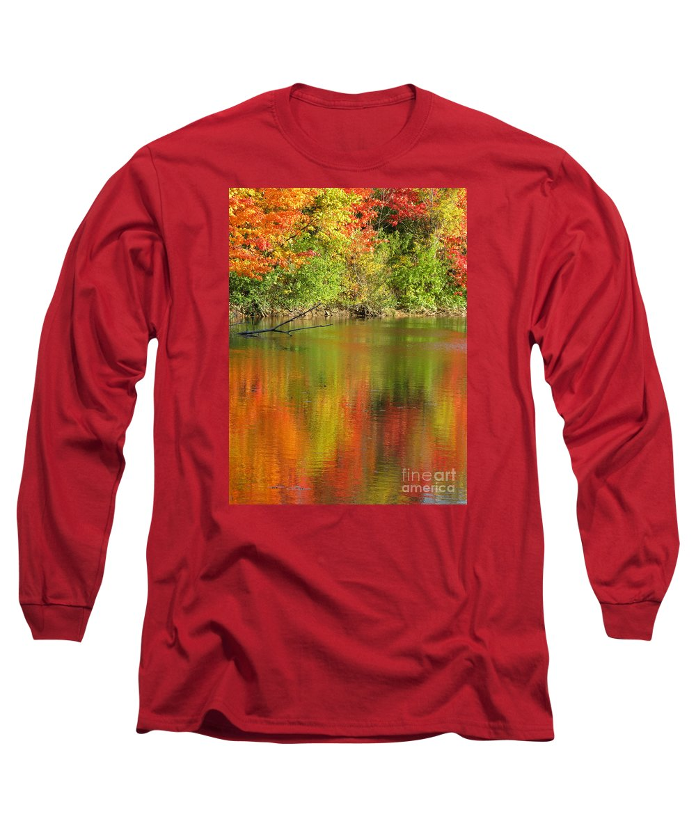 Autumn Long Sleeve T-Shirt featuring the photograph Autumn Iridescence by Ann Horn