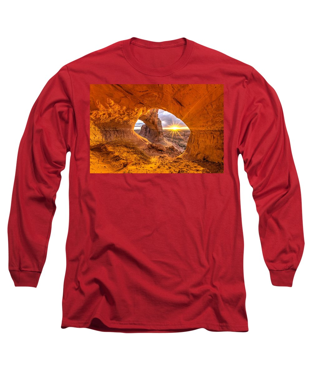 Utah Long Sleeve T-Shirt featuring the photograph Cave Arch by Dustin LeFevre