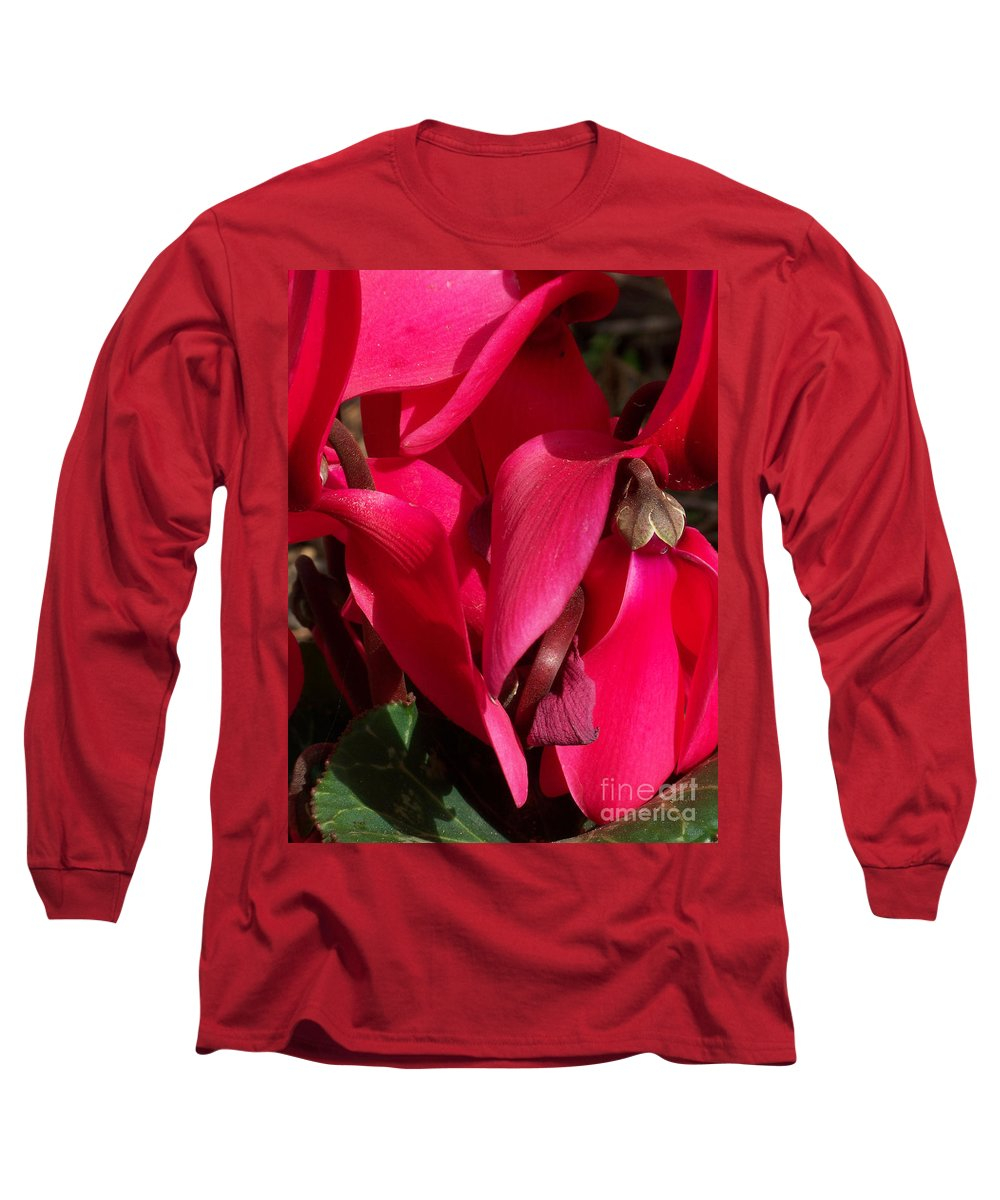 Flowers Long Sleeve T-Shirt featuring the photograph Cyclamen by Kathy McClure