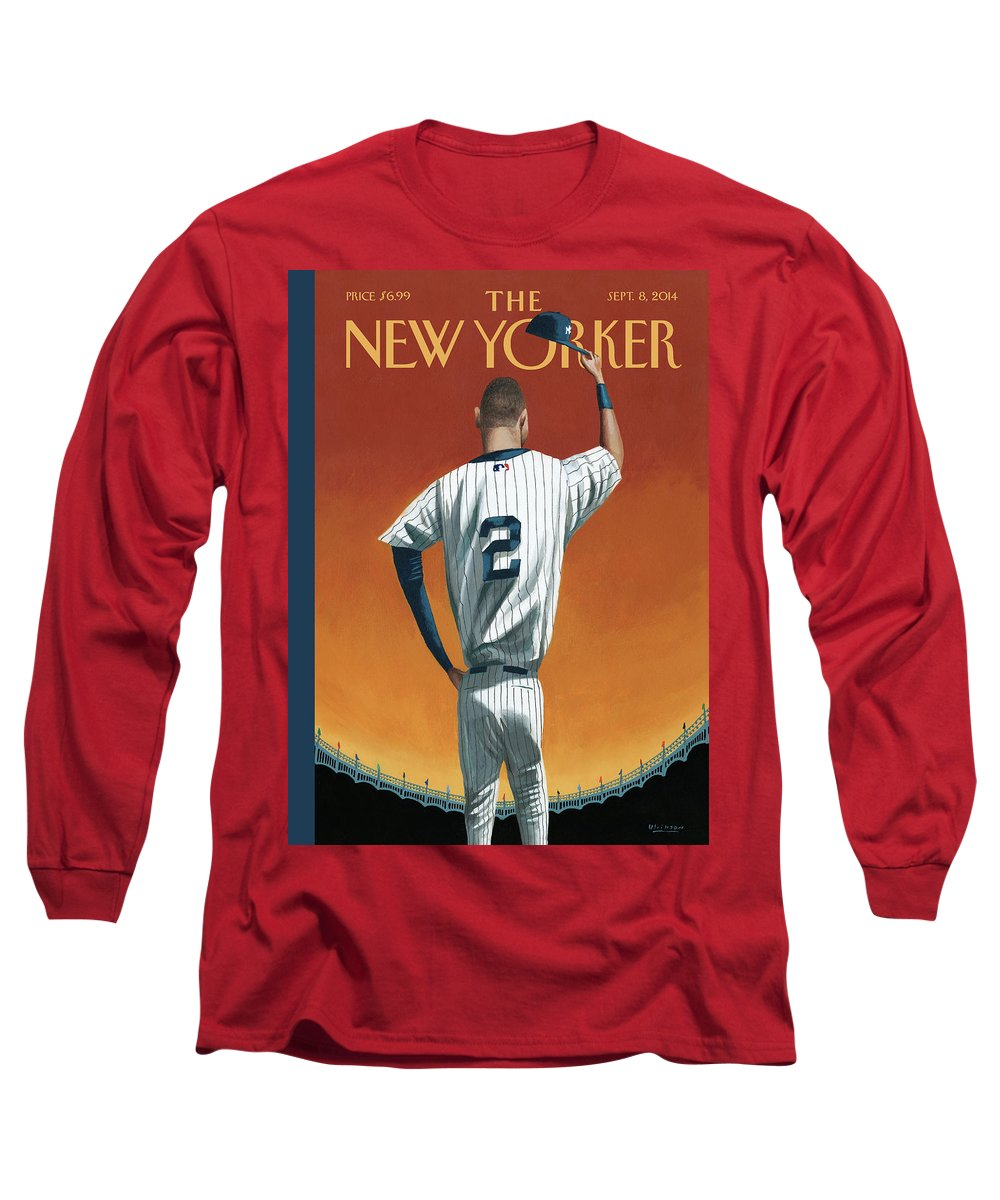 premium selection 67088 388e7 Derek Jeter Bows Out Long Sleeve T-Shirt