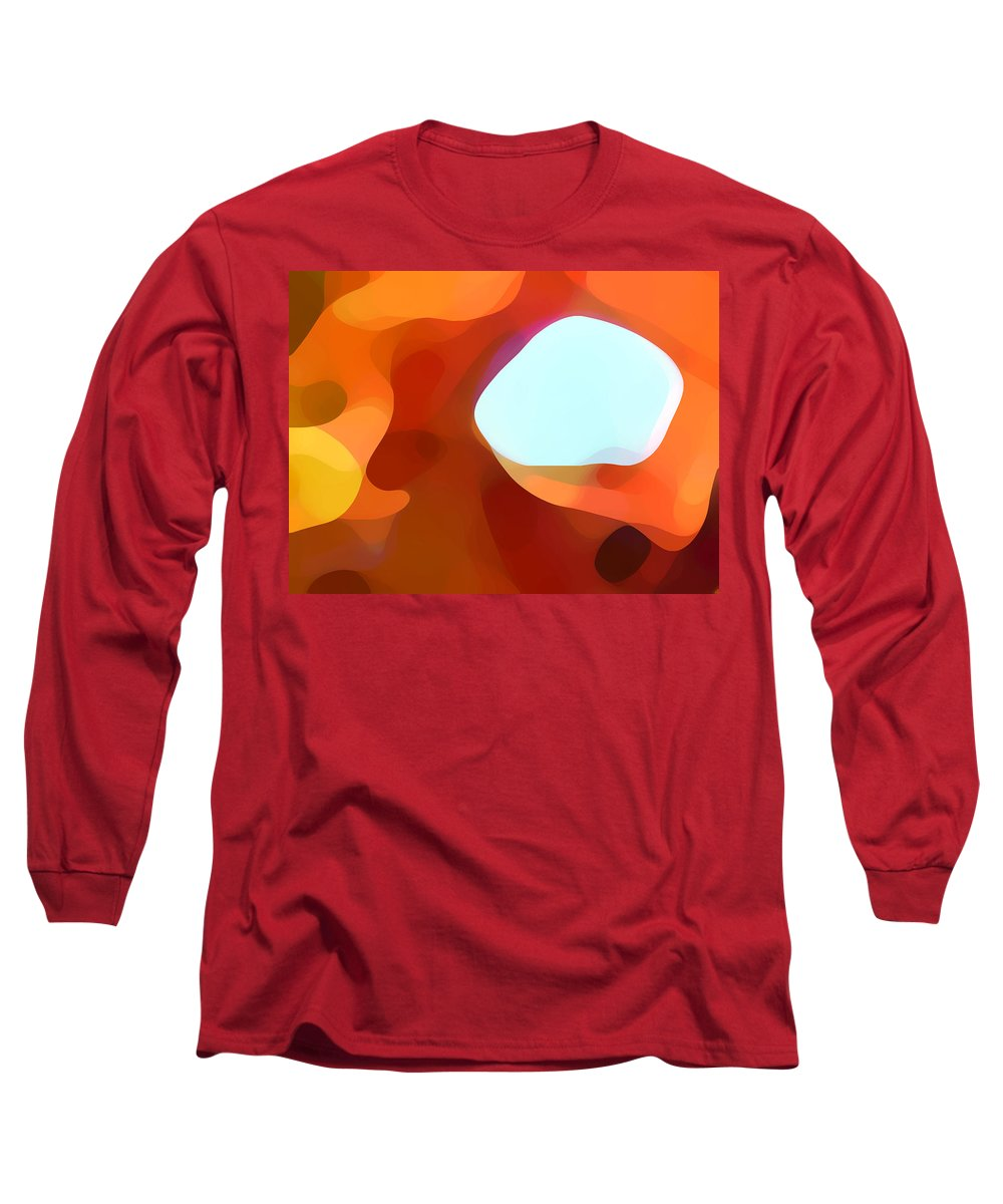 Abstract Long Sleeve T-Shirt featuring the painting Fall Passage by Amy Vangsgard
