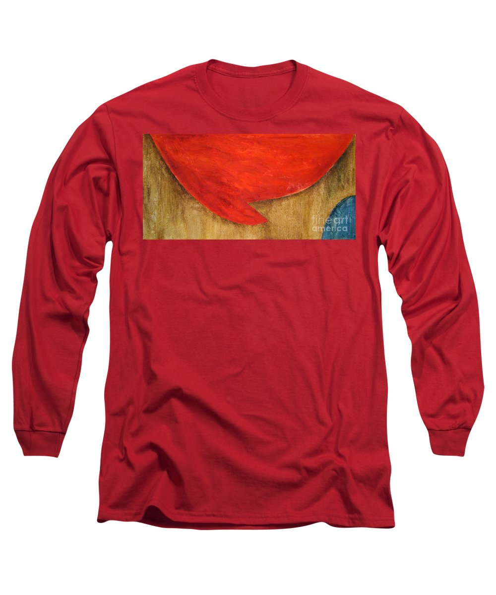 Abstract Long Sleeve T-Shirt featuring the painting Hot Spot by Silvana Abel