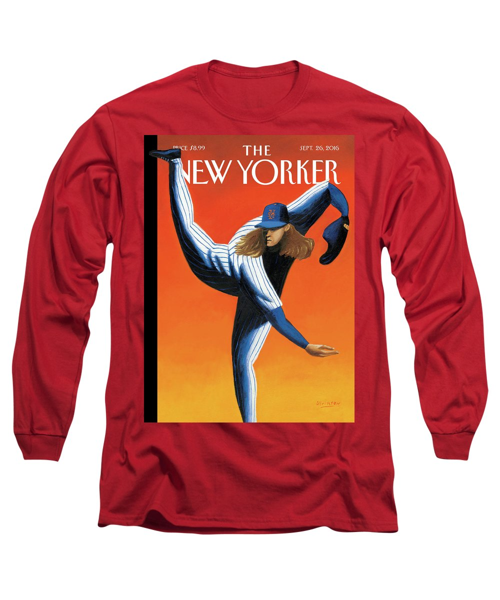 Mets Long Sleeve T-Shirt featuring the painting Late Innings by Mark Ulriksen