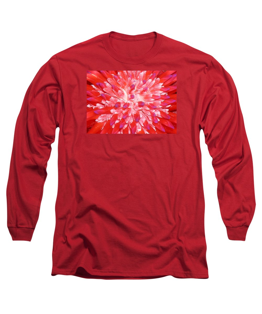 Hawaii Iphone Cases Long Sleeve T-Shirt featuring the photograph Molokai Bromeliad by James Temple